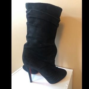 Size 37.5 Christian LouBoutin heel black boots!